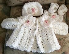 hand crochet baby cardigan size 6-12 Months Romany