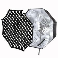 "80cm/32"" Octagon Umbrella Softbox + Honeycomb Grid For Flash Light Speedlite HOT"