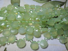 "11x11mm Faceted Briolette Teardrop Shape Serpentine 7""-8"" INCH Stones Beads !%"