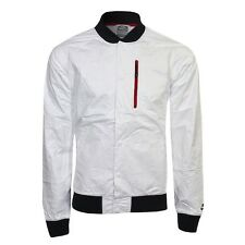 NIKE DESTROYER BOMBER JACKET MENS SIZE XL WHITE VARSITY GYAKUSOU NSW TECH LAB