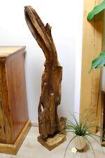 Teak Wurzelholz Skulptur bis 130cm Treibholz Schwemmholz Aufsteller Deko Altholz