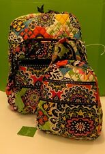 NWT Vera Bradley Large Campus Backpack With Lunch Box Bunch In RIO