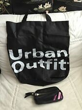 Lot of 2 - Urban Outfitters Tote Bag + YKK Zipper Clutch Leather Tassel Bag