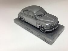 Saab 93 1.43 Scale Pewter Effect Model Car Handmade In Sheffield