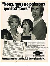 PUBLICITE ADVERTISING 054  1982  CUENO  THERMOTECHNIQUE  pompes à chaleur