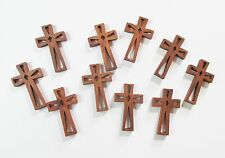 Wholesale Lot of 500 Small Wood Crosses with Decorative Cutouts