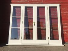 Hardwood Wooden French Doors with sidelights! Glazed! Made to measure! Bespoke!