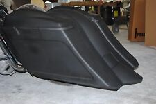 """Stretched 6"""" Down & Out Saddlebags, Rear Fender & 6.5 spea lids Harley 1997-2008"""