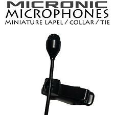 3.5mm MINI di bloccaggio Tie Clip Microfono Per Sennheiser Wireless Radio bodypacks