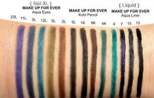 100% Authentic MAKE UP FOR EVER AQUA EYES Eyeliner Forever Waterproof Eye Liners