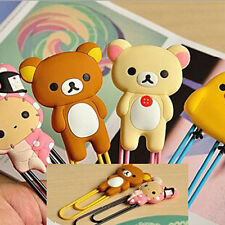 1Pc Practical Paper Note Pin Clip Bookmarks Cute Cartoon Animal Paperclip 3x10cm