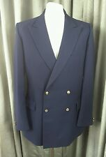 Gieves & Hawkes Navy 100% Wool Blazer With Royal Navy Crown Buttons 40R
