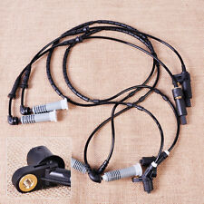 Fit for BMW E46: 4pcs Front Rear ABS Wheel Speed Sensor 34521164651 34521164652