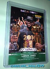 2016 Panini Instant NBA Finals Lebron James #15 MVP Serial Number 17/25 GREEN