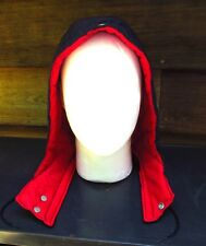 """Replacement Zipper Snap Hood for Winter Jacket Red Blue 13"""" Nylon Quilted"""