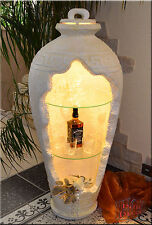Griechisch Vase Amphore Bar Vitrine Rundregal Regal Eckvitrine Mäander
