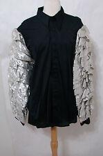 VINTAGE Nik Nik EDIE ADAMS Worn Custom Black Silver LS Show Costume Top XL