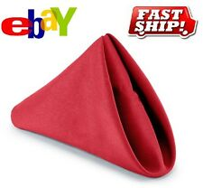 24 PREMIUM RED WEDDING RESTAURANT DINNER CLOTH LINEN NAPKIN 20X20 PARTY LINEN