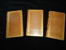 3 decorative leather bindings 1824 Sturm Reflections on Works of God engravings
