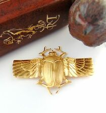 BRASS Scarab Beetle With Wings Brass Stampings & Jewelry Finding (C-403) #