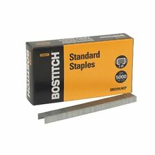 "Stanley Bostitch Full Strip Standard Chisel Point Staples, 1/4"" Length, 5000/BX"