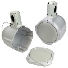 QPOWER  Qpower Pair 8 Empty Tower Marine/ATV Speaker Enclosure White