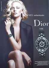 PUBLICITE DIOR MONTRE BRACELET VIII CHARLIZE THERON DE 2011 FRENCH AD PUB WATCH