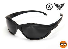 EDGE TACTICAL EYEWEAR FALCON THIN TEMPLE with GASKET BLACK / G-15 LENS