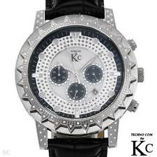 TECHNO COM by KC Men's Genuine Diamond Chronograph Watch w/Day - .35 cwt