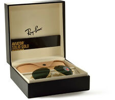 New Ray Ban Aviator RB3025K 160/N5 58-14 SOLID 18K GOLD w/Polar 1200 Pieces Only