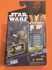 Hasbro Star Wars The Clone Wars CW20 Mace Windu Jedi Master Carded Figure