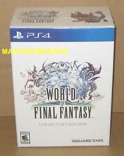 PS4 World of Final Fantasy Collector's Edition New Sealed Square-Enix +Bonus DLC