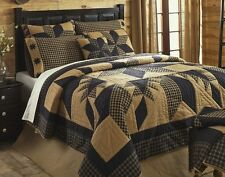 RUSTIC COUNTRY BLACK STAR 3pc * King * QUILT SET : WESTERN CABIN COMFORTER