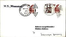 SEEPOST Schiff MS WESERSTEIN Paquebotstempel Christobal Brief Seepost Shipletter