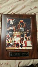 Shaquille O'Neal Autographed 8 X 10 plaque