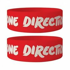 ONE DIRECTION logo/red 2013 rubber WRISTBAND official licensed merchandise 1D