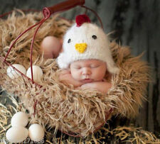 Newborn Baby Infant handmade Knitted Crochet Chick Hat Photo Photography G18