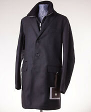 NWT $1095 ALLEGRI Charcoal Gray Double-Layer Wool-Cashmere Overcoat L Outer Coat