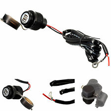 Motorcycle Bike Hard Wire 2 Amp Rapid Charge Dual USB Charger for Phones and GPS