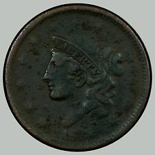 1839 1C Newcomb-2 Head of 38 Cent, VF Details, weak date