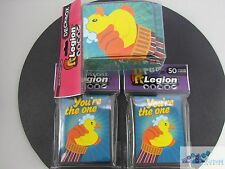 100 LEGION RUBBER DUCKY DECK PROTECTOR CARD SLEEVES AND DECK BOX