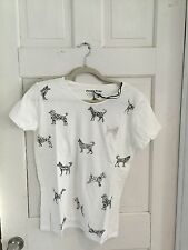 Modcloth People Tree Doodle Poodle Dog Tee 8 Nwt From UK Organic Cotton