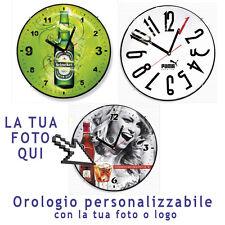 OROLOGIO PERSONALIZZATO DA PARETE IN ABS 31cm