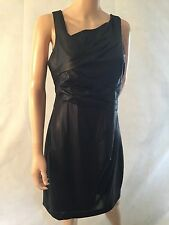 VINCE CAMUTO Size 12 Black Wet Look Dress Womens Designer