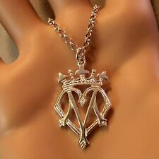 new sterling silver mary queen of scots luckenbooth pendant & chain