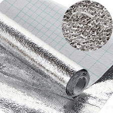 1 Roll Silver Kitchen Self-adhesive Foil Stickers Waterproof Anti-oil Wall Paper
