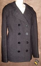 NEW Men's 2XL (46/48) Charcoal GRAY Alpha Industries USN Pea Coat MJN45032C1 MIL