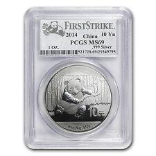 2014 China 1 oz Silver Panda MS-69 PCGS (FS) - SKU #85730