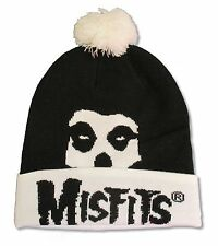 "MISFITS ""SKULL"" BEANIE HAT WITH POM NEW OFFICIAL"