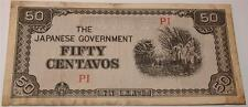 The Japanese Goverment 50 Fifty Centavos Currency Bill Paper Money